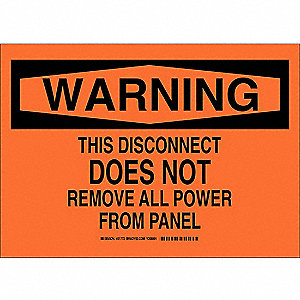 "Electrical Hazard, Warning, Polyester, 10"" x 14"", Adhesive Surface, Not Retroreflective"