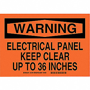 "Electrical Hazard, Warning, Plastic, 7"" x 10"", With Mounting Holes, Not Retroreflective"