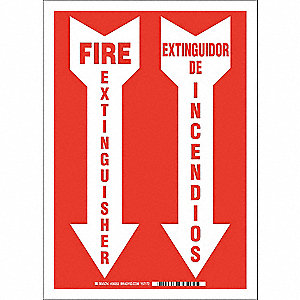Fire Extinguisher Sign,Bilingual Sign
