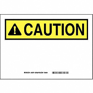 "Blank, Caution, Polyester, 10"" x 14"", Not Retroreflective"