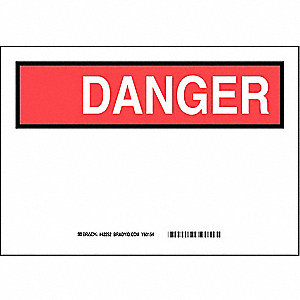 "Blank, Danger, Polyester, 7"" x 10"", With Mounting Holes, Not Retroreflective"