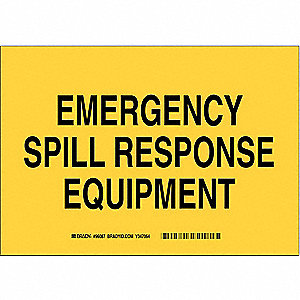"Spill Control, No Header, Aluminum, 10"" x 14"", With Mounting Holes, Not Retroreflective"