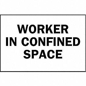 BRADY Confined Space, No Header, Aluminum, 10