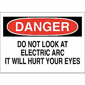 Danger Sign,Electric Arc,10x14