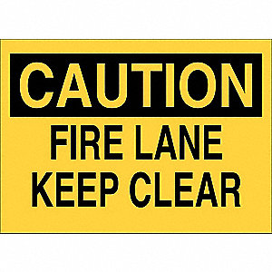 "Safety Sign,7""x10"",Polyester"