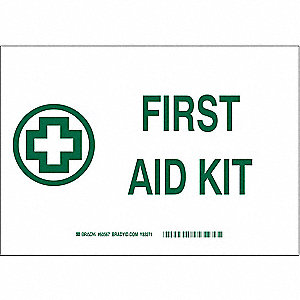 First Aid Sign,First Aid Kit,7x10