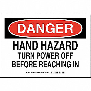 "Electrical Hazard, Danger, Aluminum, 10"" x 14"", With Mounting Holes, Not Retroreflective"