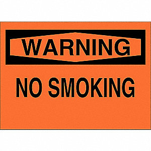 "No Smoking, Warning, Plastic, 7"" x 10"", With Mounting Holes, Not Retroreflective"