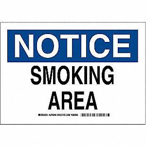 Notice No Smoking Sign,10x14,BLU/BLK/WHT