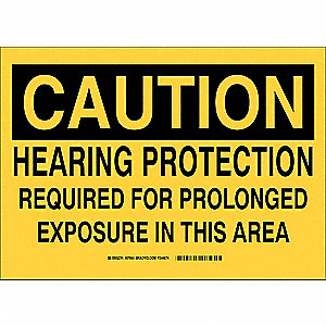 Caution Sign,Hearing Protection Required