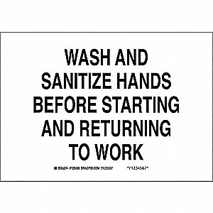 Hand Wash Sign,Wash and Sanitize Hands
