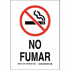 No Smoking Sign,No Fumar,10x7,Spanish