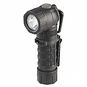 Tactical LED Handheld Flashlight, Plastic, Maximum Lumens Output: 170, Black