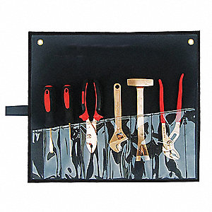 Nonsparking Tool Set,Nonmagnetic, Corrosion Resistant,Number of Pieces 6