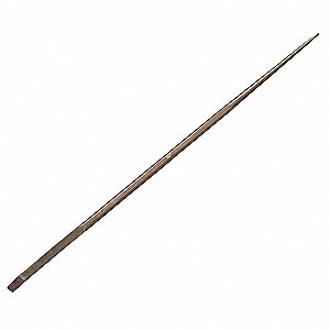 "60"" x 1-3/8"" Beryllium Copper Alloy Nonsparking Pinch Point Bar, Copper"