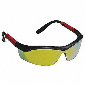 Tornado F5 Anti-Fog, Anti-Static, Scratch-Resistant Safety Glasses, Red Mirror Lens Color