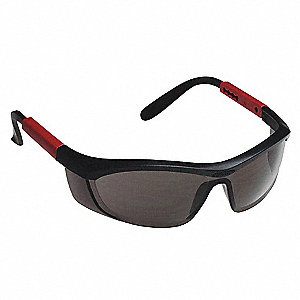 Tornado F5 Anti-Fog, Anti-Static, Scratch-Resistant Safety Glasses, Smoke Lens Color