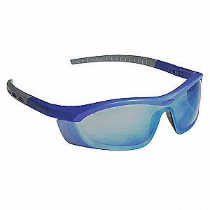 Tornado F5 Anti-Fog, Anti-Static, Scratch-Resistant Safety Glasses, Blue Mirror Lens Color
