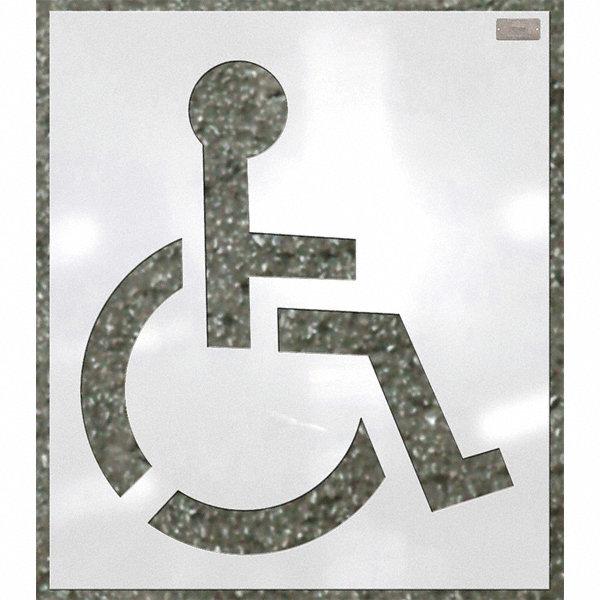 Ch Hanson Stencil Handicap Symbol 48 Low Density Polyethylene 1 Ea 23xd03 14330 Grainger