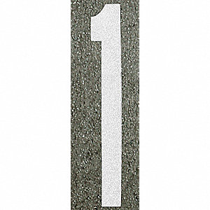 Number Label,1,96H x 16 in. W,White