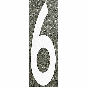 Number Label,6,96H x 16 in. W,White