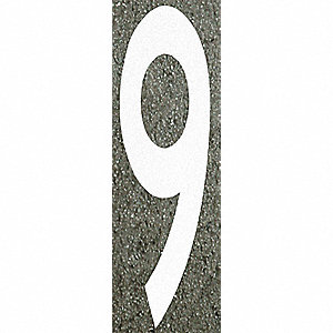 Number Label,9,96H x 16 in. W,White