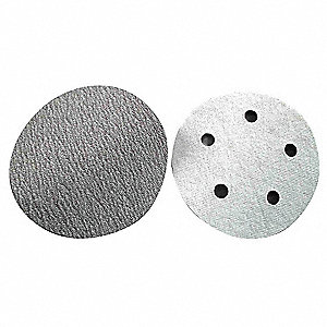 "5"" Coated Hook-and-Loop Sanding Disc, 320 Abrasive Grit, Very Fine Grade, Aluminum Oxide"