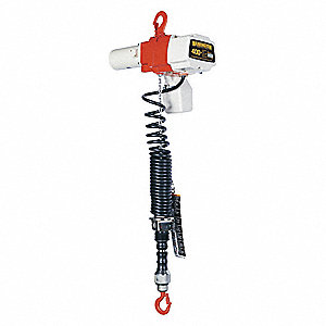 H2 Electric Chain Hoist, 400 lb. Load Capacity, 120V, 6 ft. Hoist Lift, 26/10 fpm