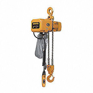 H4 Electric Chain Hoist, 4000 lb. Load Capacity, 230/460V, 10 ft. Hoist Lift, 7 fpm