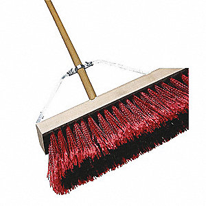 BROOM 24IN CMPLT MEDIUM SWEEP RED