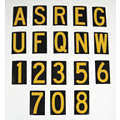 Number and Letter Combo Kit, A Thru Z, 0 Thru 9, Yellow on Black Background, 1