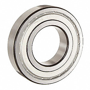 Radial Ball Bearing, Shielded Bearing Type, 25mm Bore Dia., 52mm Outside Dia.