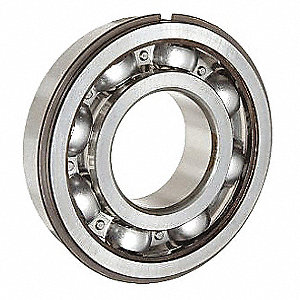 Radial Ball Bearing, Open, 20mm Bore Dia., 52mm Outside Dia.