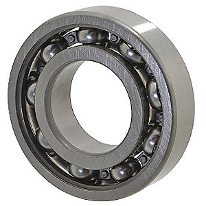 Radial Ball Bearing, Open Bearing Type, 20mm Bore Dia., 52mm Outside Dia.