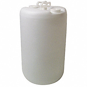 20 gal. White Polyethylene Closed Head Transport Drum