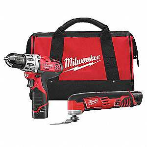 Cordless Combination Kit, 12.0 Voltage, Number of Tools 2