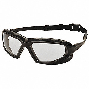 Highlander Plus Anti-Fog, Anti-Static, Scratch-Resistant Safety Glasses, Clear Lens Color