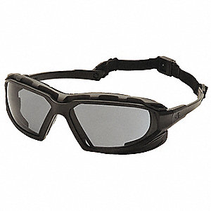 Highlander Plus Anti-Fog, Anti-Static, Scratch-Resistant Safety Glasses, Gray Lens Color