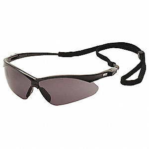 Agitator Anti-Fog, Anti-Static, Scratch-Resistant Safety Glasses, Gray Lens Color