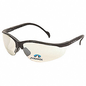 Indoor/Outdoor Scratch-Resistant Bifocal Safety Reading Glasses, 2.0 Diopter