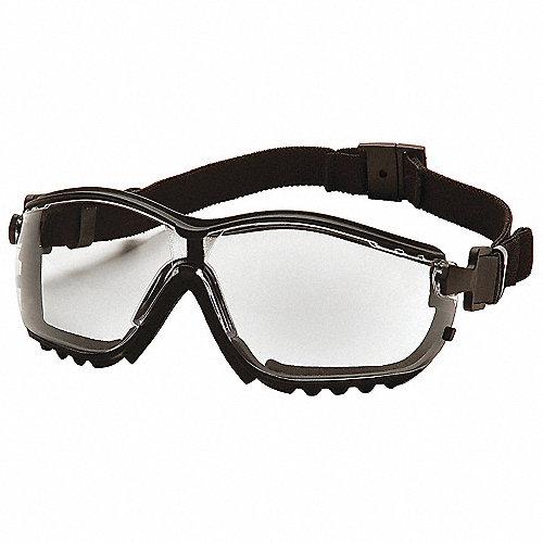 c6dac34bb0 PYRAMEX Gafas Res/Polvo,Claro,Antiempaño,Negro - Goggles de ...