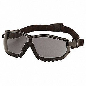 Anti-Fog, Anti-Static, Scratch-Resistant Direct Dust Goggle, Gray Lens