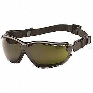 Anti-Fog, Anti-Static, Scratch-Resistant Direct Dust Goggle, Green Lens