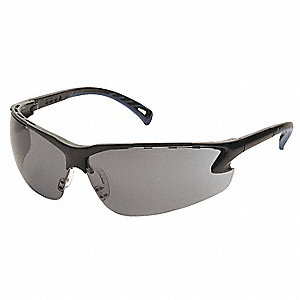 Venture 3 Scratch-Resistant Safety Glasses, Gray Lens Color