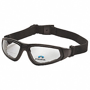 Clear Anti-Fog Bifocal Safety Reading Goggles, 2.0 Diopter