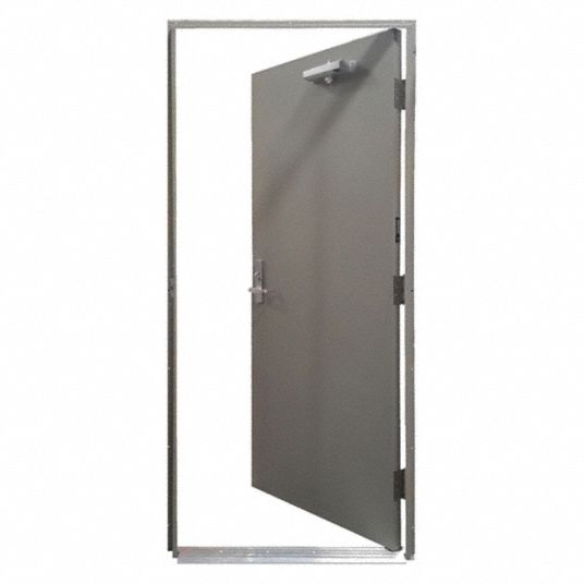 Securall Steel Door With Sub Frame 23y709 Hdqm16 36x80 1 5 Prh Grainger