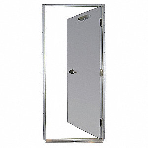 Steel Door,Mortise,LHR,36 x 80 In.