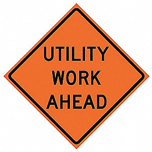 48in UTILITY WORK AHEAD R34