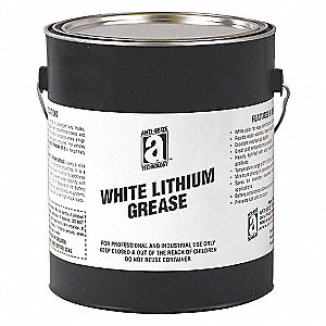 White Lithium Bearing Grease, 5 lb., NLGI Grade: 2