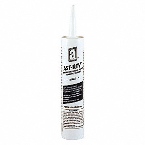 Waterproof Black RTV Silicone Sealant, 10.3 oz.